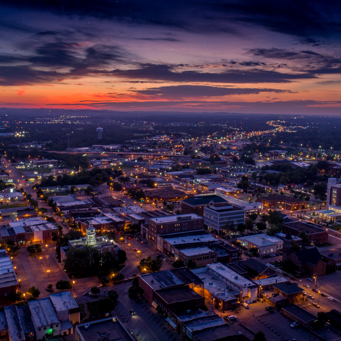Murfreesboro Aerial Night Sky