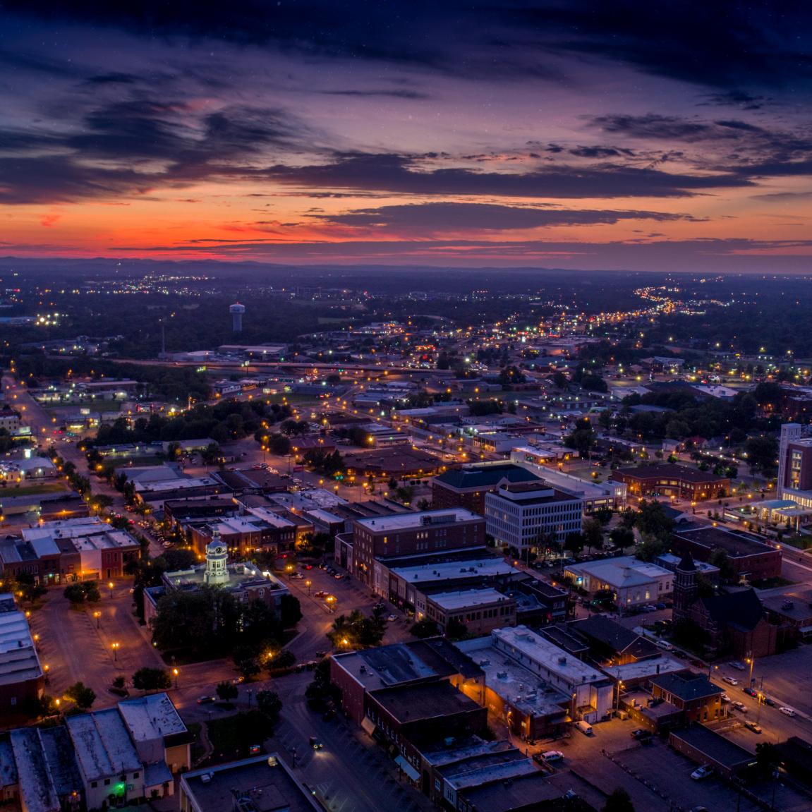Murfreesboro Aerial Night Sky